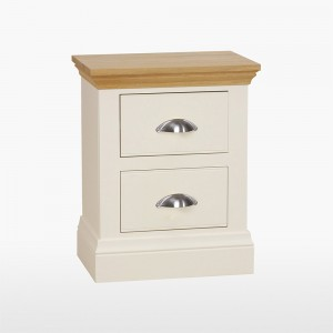 Cello Oak/Painted Bedside Table with 2 Drawers