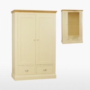 Cello Oak/Painted CL818 Ladies Wardrobe