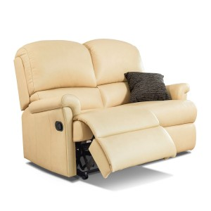 Nevada Reclining 2 Seater Sofa in leather