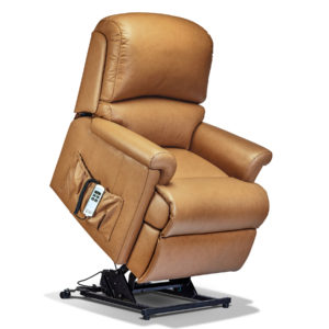 Nevada Lift & Rise Recliner Chair in leather