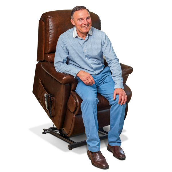 Nevada Dual Motor Lift & Rise Recliner in Leather TR Hayes