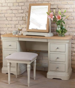 Olivia Dressing Table Mirror shown with Olivia Double Dressing Table & Stool