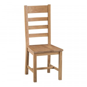 Cordoba Oak Ladder Back Chair with wooden seat