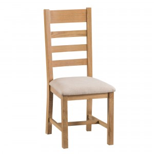 Cordoba Oak Ladder Back Chair with fabric seat