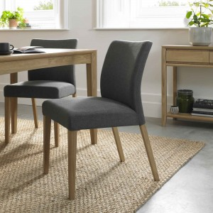 Ibsen Upholstered Dining Chair in Black Gold fabric
