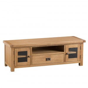 Cordoba Oak Large TV Unit with Glass Doors