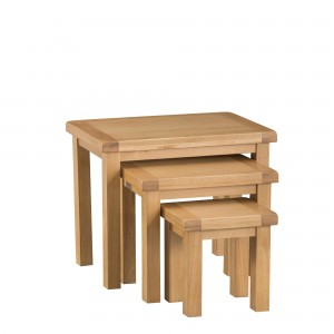 Cordoba Oak Nest of 3 Tables
