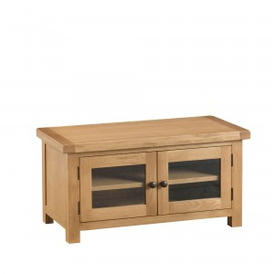 Cordoba Oak Standard TV Unit with Glass Doors