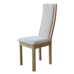 Bergen High Back Upholstered Dining Chair in Natural fabric