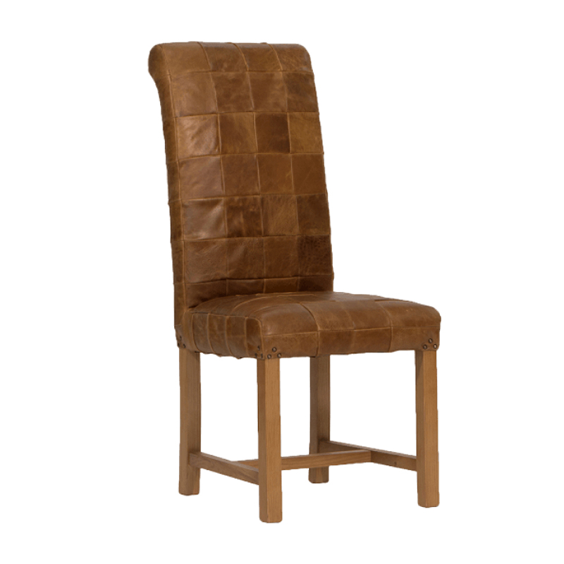 Rollback Leather Patchwork Dining Chair - TR Hayes Bath