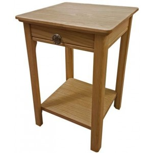 Anbercraft Beaumont BMT04D Mini Lamp Table with drawer with solid top