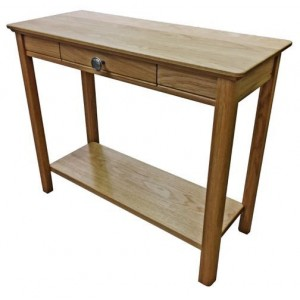 Anbercraft Beaumont BMT11D Sofa End Table with drawer with solid top