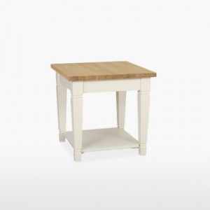 Cello Oak/Painted Lamp Table (Tapered Legs)