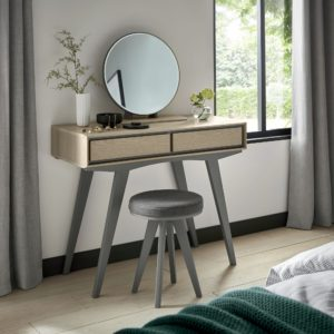 Bertie Dressing Table with Mirror and Stool