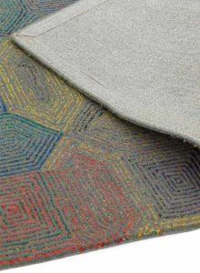 Camden Rug in Grey Multi detail