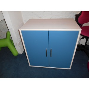 Showroom Clearance: Flexa Classic Cupboard with 2 Doors in Clear lacquer/Nordic Blue-0