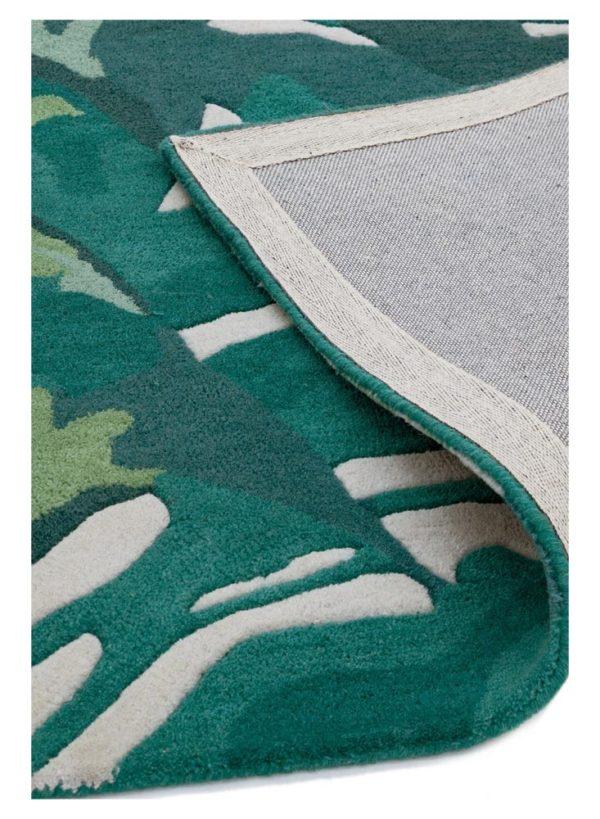 Matrix Palm Green Rug detail