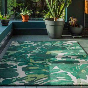 Matrix Palm Green Rug