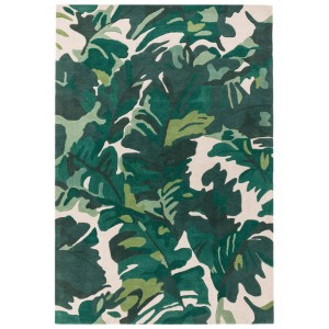 Matrix Palm Green Rug