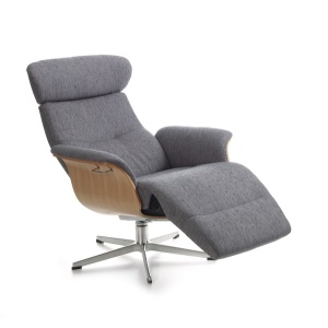 Timeout Crossfoot Swivel Chair with footrest in fabric