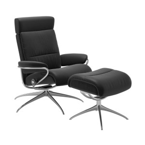 Stressless Tokyo Chair & Stool with adjustable headrest