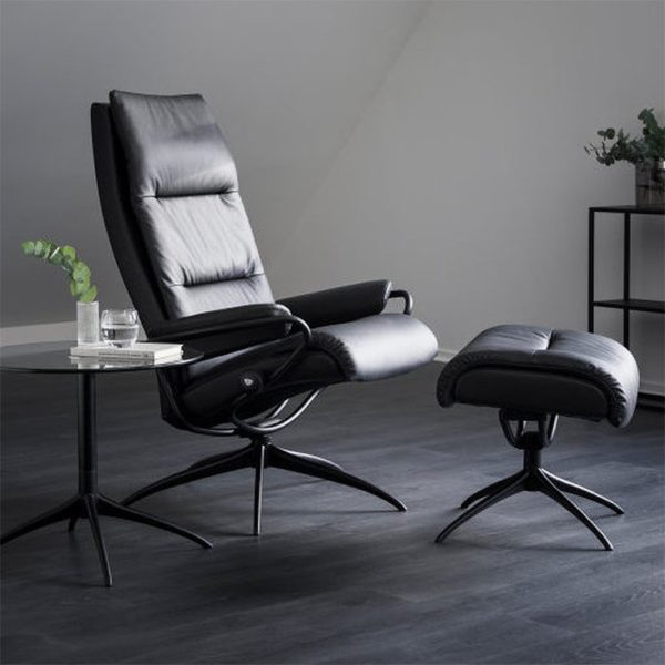 Stressless Tokyo Chair & Stool with high back