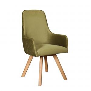 Omnium Dining Chair in velvet