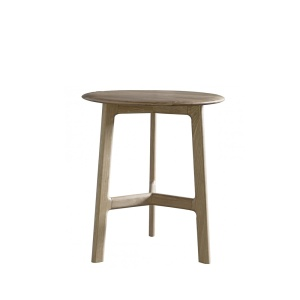 Jacobsen Round Side Table in oak