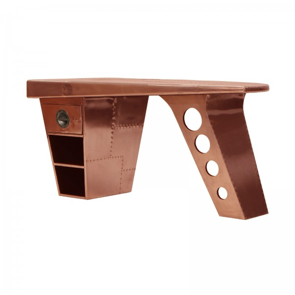 Aviator Half Wing Desk in copper
