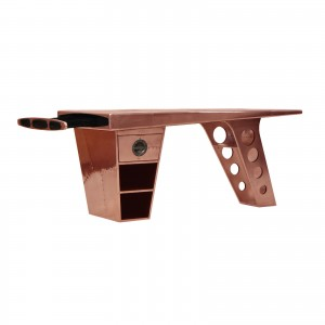 Aviator Half Wing Desk open in copper