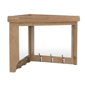 Honiton Oak Corner Hall Bench Top