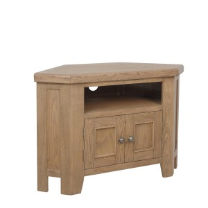 Honiton Oak Corner TV Unit
