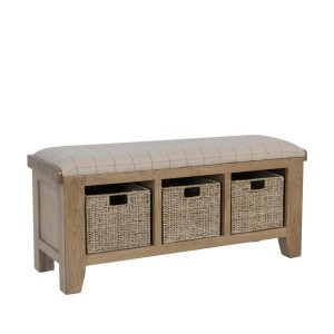 Honiton Oak Hall Bench