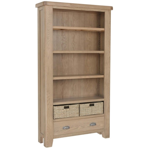 Honiton Oak Large Bookcase