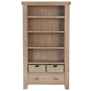 Honiton Oak Large Bookcase front