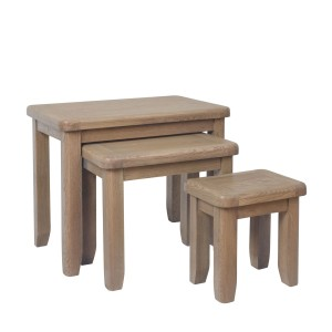 Honiton Oak Nest of 3 Tables