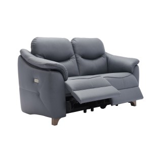G Plan Jackson 2 Seater Sofa with wooden feet in leather