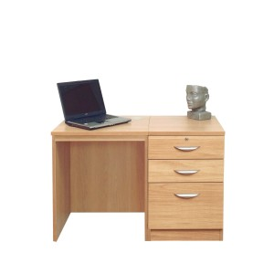 Optimum Office Set 2 in Classic Oak
