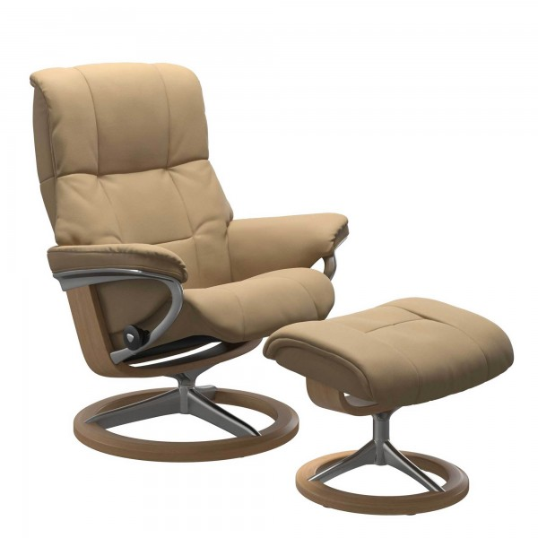 Stressless Mayfair Signature Base in Paloma Sand & Oak