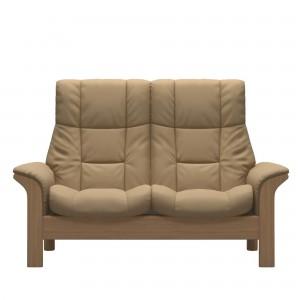 Stressless Windsor 2 Seater Sofa in Paloma Sand & Oak