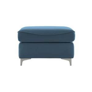 G Plan Jackson Leather Footstool with metal feet