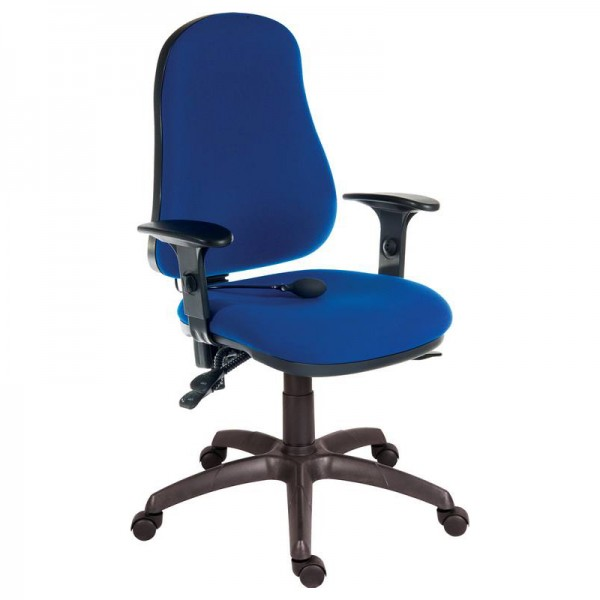 Comfort Air Office Chair in blue with adjustable arms