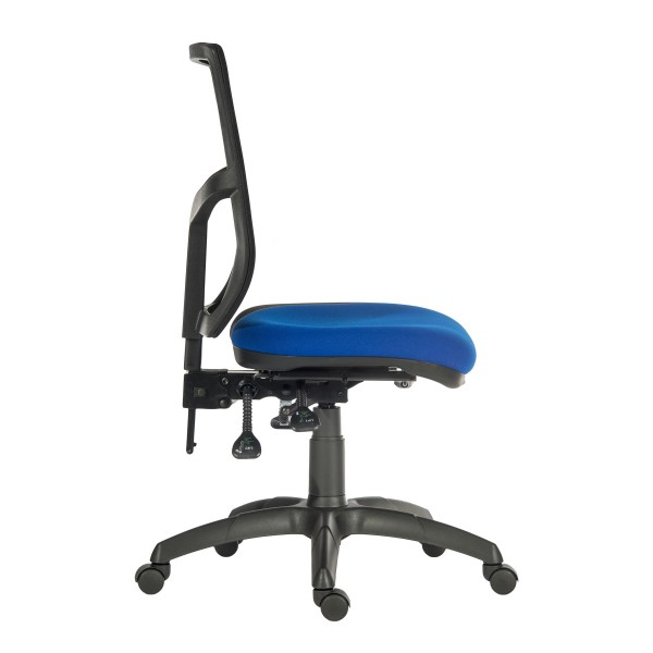 Comfort Mesh Office Chair in blue - side