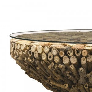 Driftwood Round Coffee Table detail