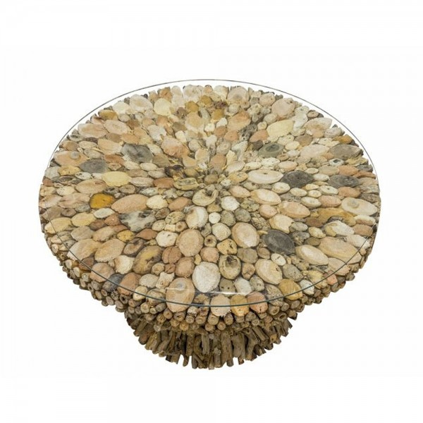 Driftwood Round Coffee Table top
