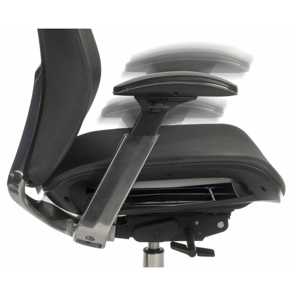 Solace Office Chair arm detail