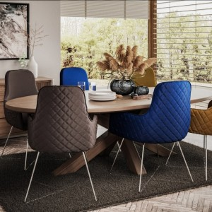 Barchester Oval Dining Table with Jazz Chairs