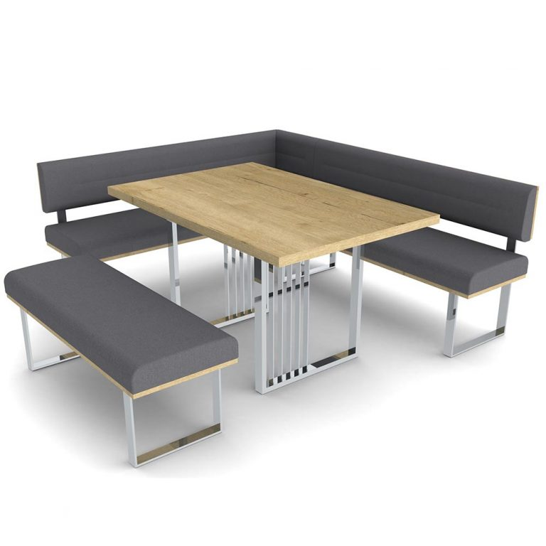 Bartoli Corner Bench and Table LR