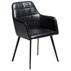 Embrace Chair Vintage Black Artificial Leather