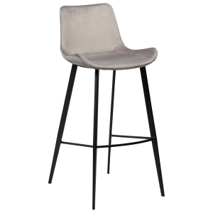 Hype Bar Stool Aluminium Velvet